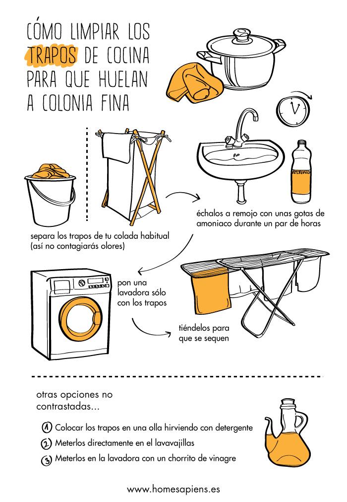 Unos consejos para limpiar los trapos de cocina - Como limpiar una casa ...