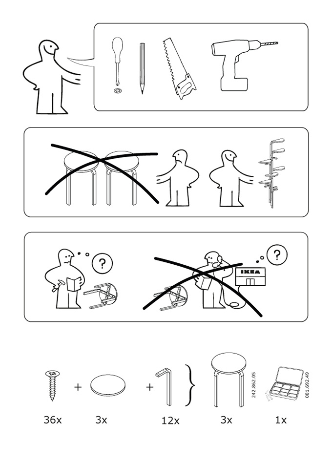 Los piratas de ikea for Instrucciones muebles ikea