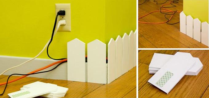 Trucos para decorar con cables - Como camuflar cables ...