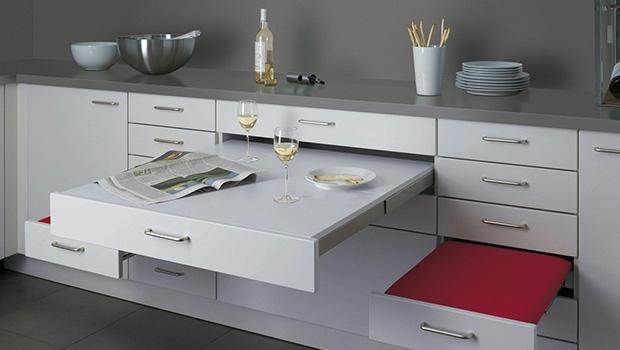Muebles escondidos para aprovechar cada rinc n for Medidas cocina pequena