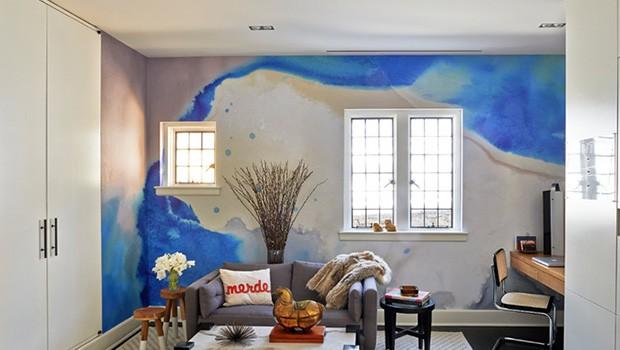 Paredes pintadas a la acuarela para casas con mucho arte - Kreative wandbemalung ...