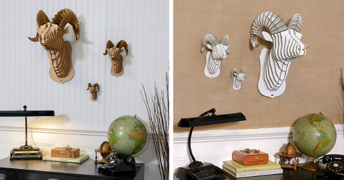 Decorar la pared con cabezas de animales - Cabezas animales decoracion ...